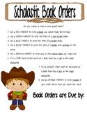 Book Order Scavenger Hunt
