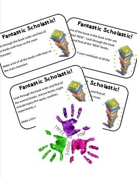 Book Order Task cards / Center