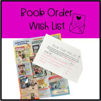 Book Order Wishlist
