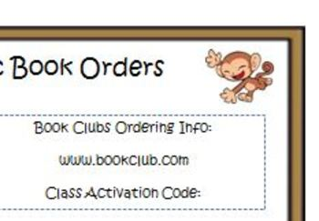 Book Order Note  FREEBIE
