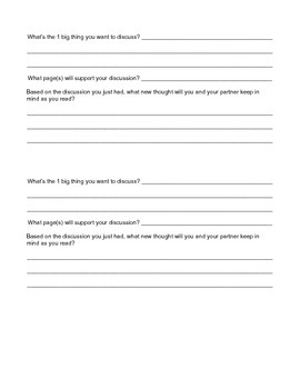 Book Partnership Planning Packet