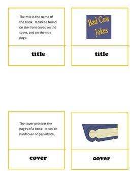 Book Parts Montessori Work