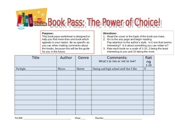 Book Pass Guide