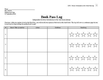 Book Pass Log