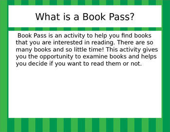 Book Pass: The Power of Choice!