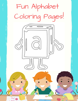 Book People Fun Alphabet Coloring Pages By Fun With Letters Tpt