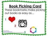 Book Picking Cards: Bookmarks for Selecting Books