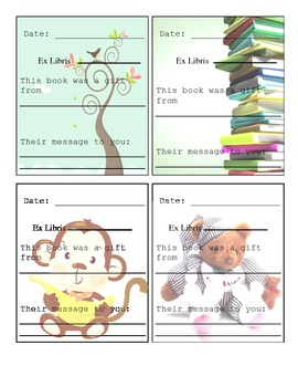 Book Plates for Book Gifts