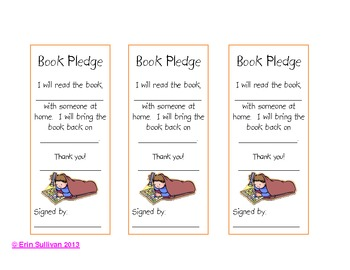Book Pledge Certificates