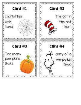 Book/Poem Title Task Cards