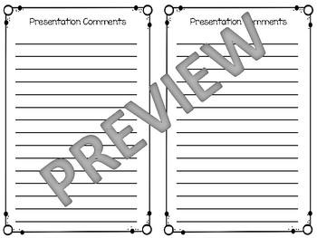 Book Presentation Rubrics with Example
