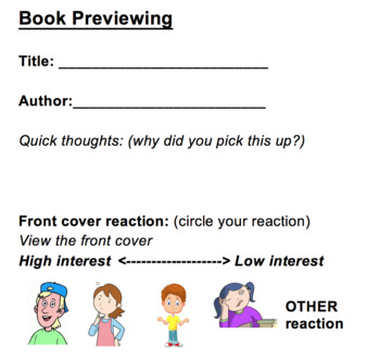 Book Previewing Bookmarks