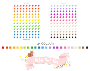 Book Printable Planner Stickers