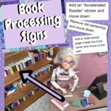Book Processing Signs for Librarians and Their Helpers