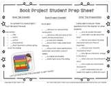 Book Project / Book Report - Adjustable Student Prep Sheet / Checklist