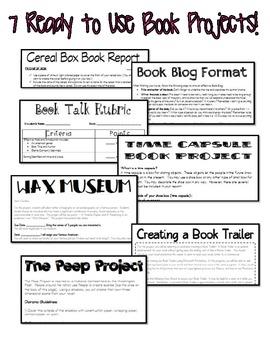 Book Project Bundle! 7 Complete, Creative Book Projects and Rubrics