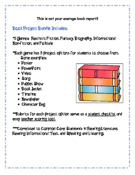 Book Project Bundle: Not your average book report!