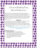 Book Project-Character Birthday Party