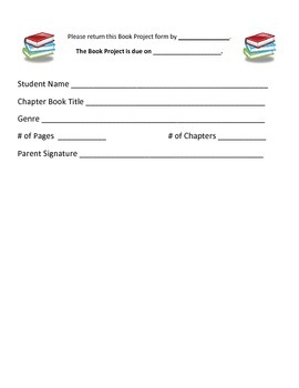 Book Project Return Slip