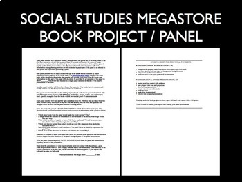 Book Project + Panel Presentation US History