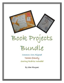 Book Projects Bundle for Grades 4-8 With Scoring Rubrics