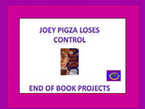 Book Projects - Joey Pigza Loses Control Final Projects