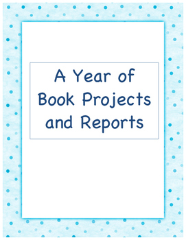 A Year of Book Projects and Reports Bundle