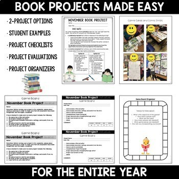 Book Projects of the Month: A Year-Long Bundle for Grades 4-6