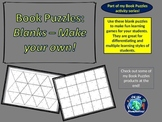 Book Puzzles Activity: Blanks - Make Your Own Questions &