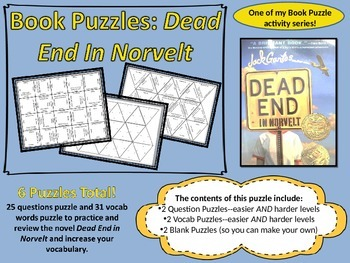 Book Puzzles: Dead End In Norvelt - Questions and Vocabulary