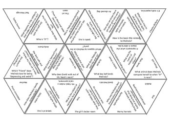 Book Puzzles: Speak - Questions and Vocabulary
