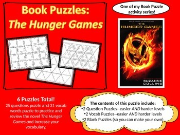 Book Puzzles: The Hunger Games - Questions & Vocabulary
