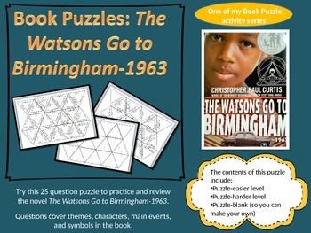 Book Puzzles: The Watsons Go To Birmingham-1963 Questions