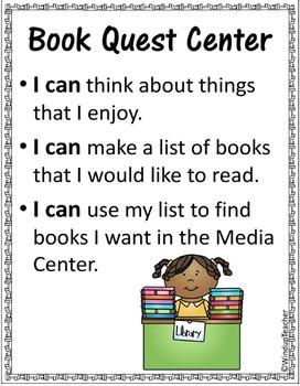 Book Quest Library Center  * Finding a Book Reproducibles