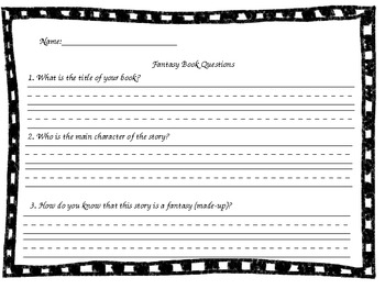 Book Questions for Fiction and Nonfiction