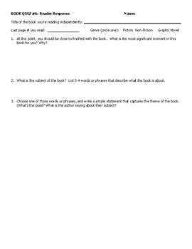 Book Quiz 6