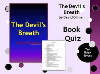 The Devil's Breath by David Gilman Book Quiz / Book Test