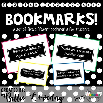 Book Quote Bookmarks