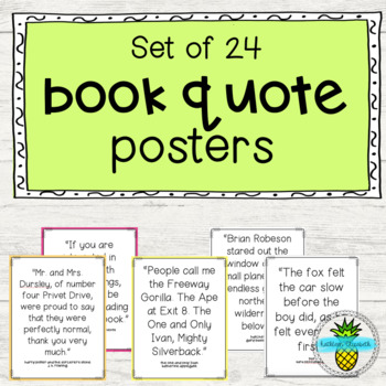 Book Quote Posters- Opening Lines