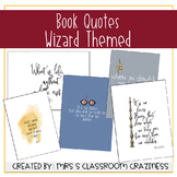 Book Quote Posters Wizard themed