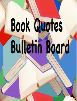 Book Quotes Bulletin Board