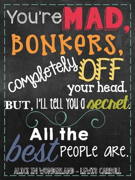 Book Quotes Subway Art - Chalkboard Theme
