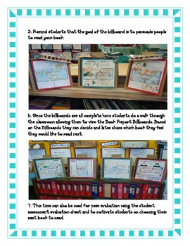 Book REPORT- Billboard Report Fun Creative Easy GATE