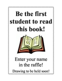 Book Raffle Sign