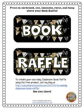 Book Raffle for the Classroom Kit! {Freebie}