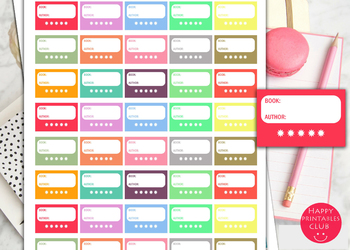 Book Rating Planner Stickers-Book Reading Planner Stickers-Books Tracker