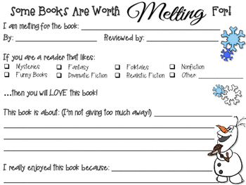 Book Recommendation / Book Buzz Winter Theme