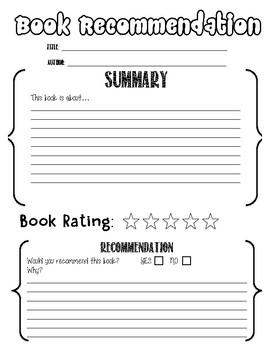 Book Recommendation (Book report) (Book report)