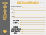 Book Recommendation Card