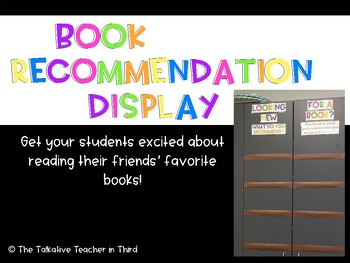 Book Recommendation Display - Color Pop!